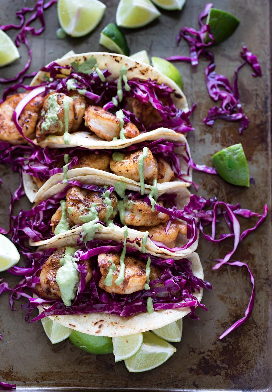 Shrimp Tacos with Avocado Ranch - Savory Spicerack