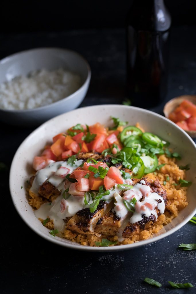 Chipotle Chicken with White Queso Cheese Sauce