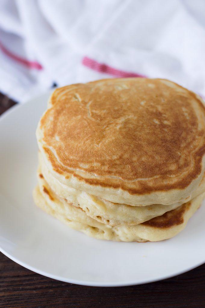 Fluffy Champagne Strawberry Glazed Pancakes dsc_0029