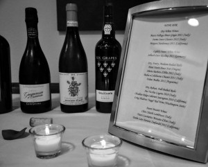 Cheap frames from the dollar store (a cheap store in the USA) helped to create elegant wine lists, and menu lists for guests to see what was available. This decreased the amount of time it took as a hostess to identify what to expect. And once again, these frames can be reused...
