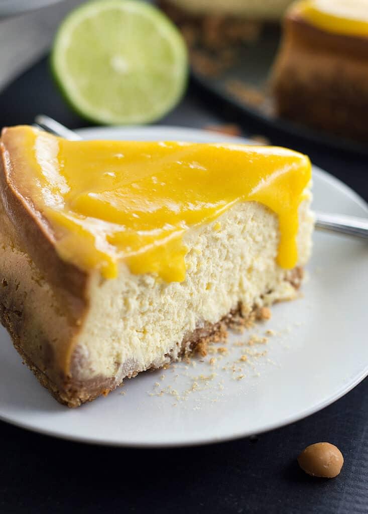 Mango Cheesecake with Macadamia Nut Crust DSC_0307
