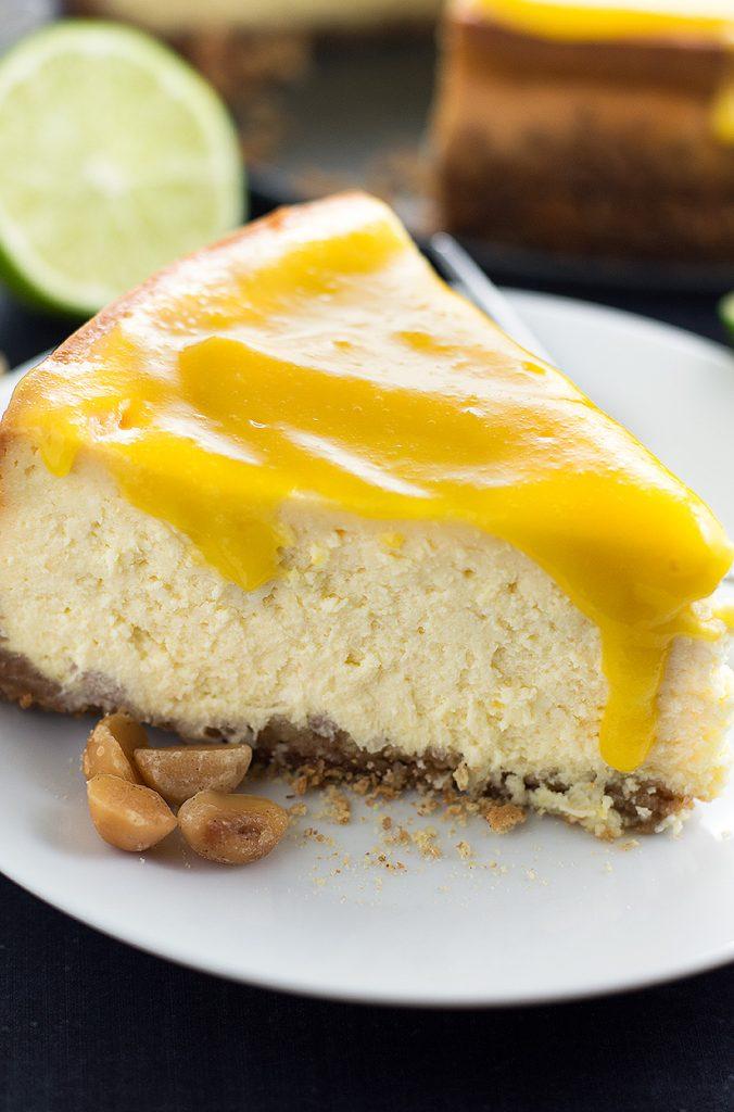 Mango Cheesecake with Macadamia Nut Crust
