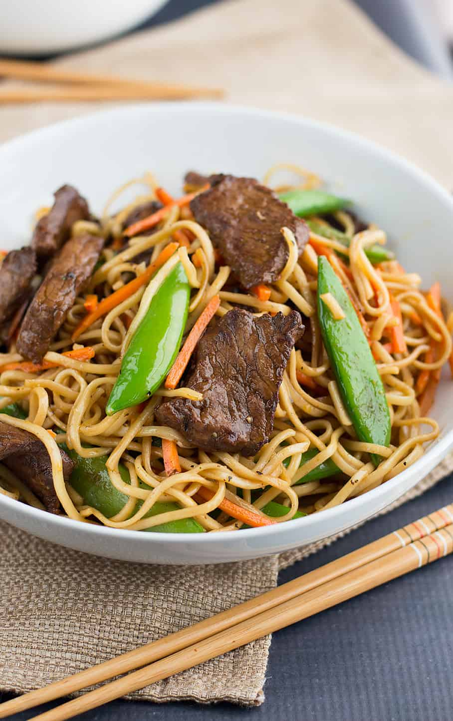 Red Thai Curry Stir Fried Chinese Noodles with Beef - Savory Spicerack