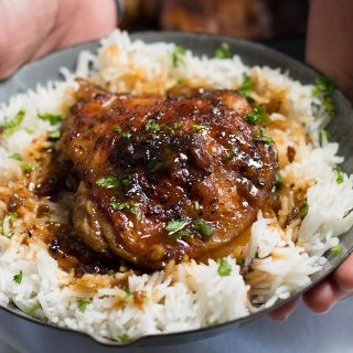 Crispy One Pan Honey Garlic Ethiopian Berbere Chicken Thighs