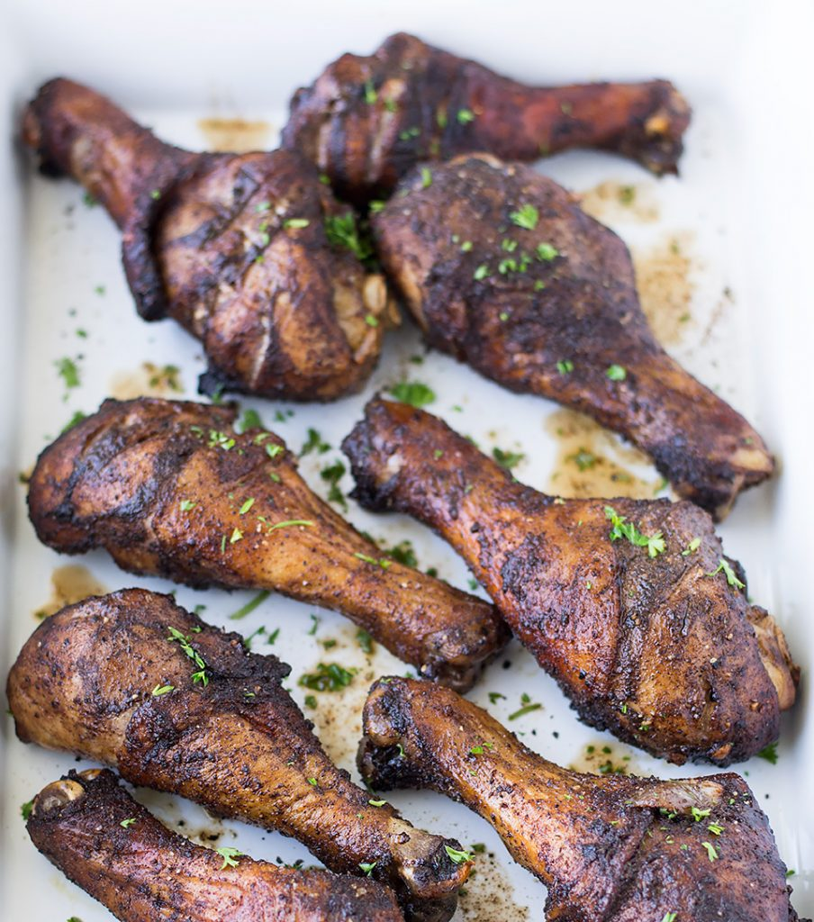 These Jerk Chicken Legs are great for grilling with easy prep and cooking methods. You can even make these in the oven all year long!