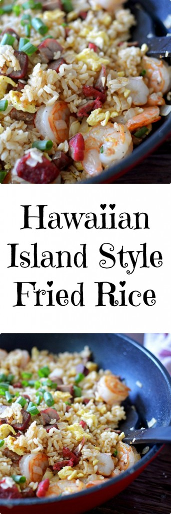 Hawaiian Island Style Fried Rice... A great way to use your leftovers....
