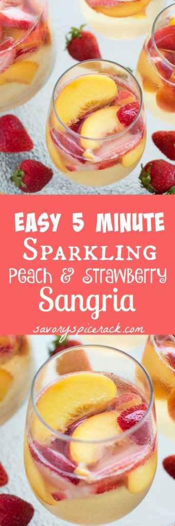 Sparkling Peach and Strawberry Sangria
