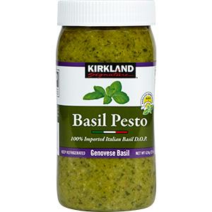 Kirkland Basil Pesto in a little jar