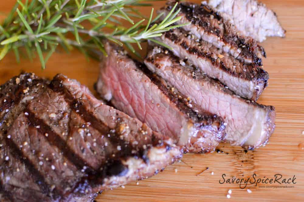 red wine rosemary garlic steak