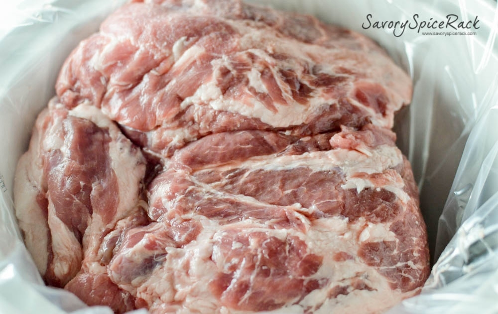 Plenty of pig meat necessary to make this delicious recipe - ready to be cooked