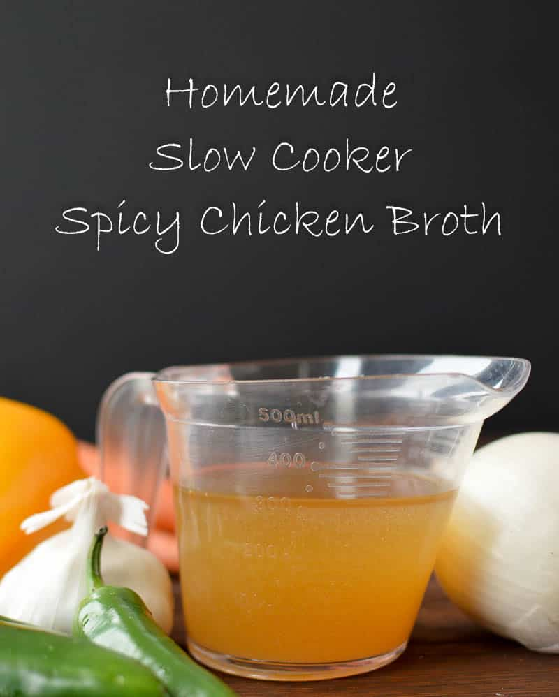 slow cooker spicy chicken broth
